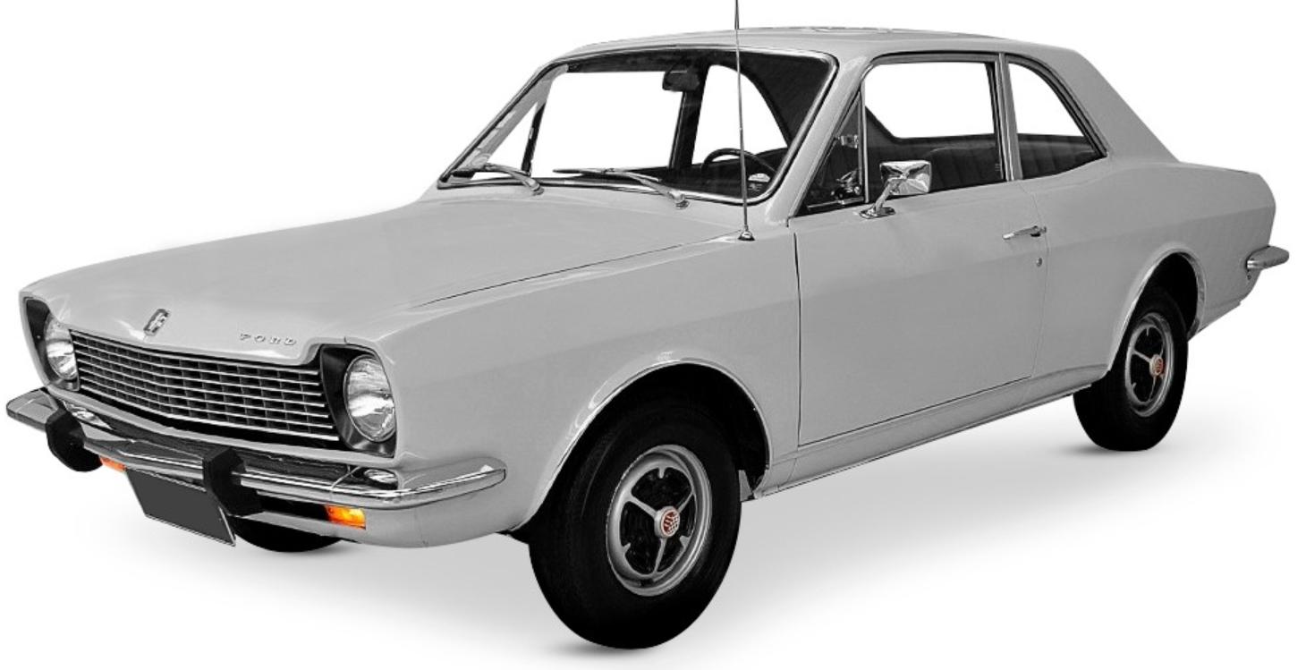 Ford Corcel com fundo branco