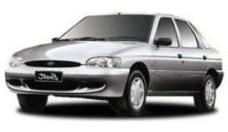 Ford Escort com fundo branco