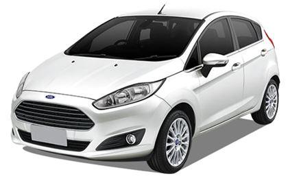 Ford Fiesta com fundo branco