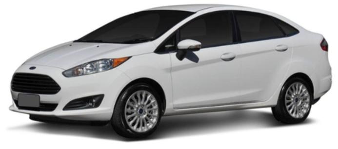 Ford Fiesta Sedan com fundo branco