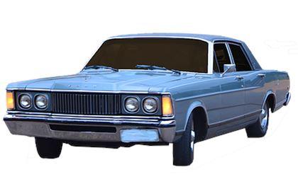 Ford Landau com fundo branco