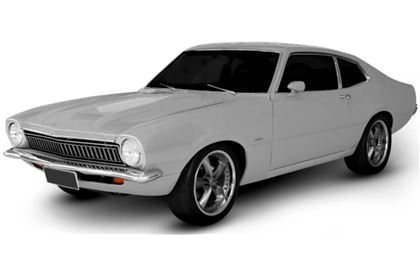 Ford Maverick com fundo branco