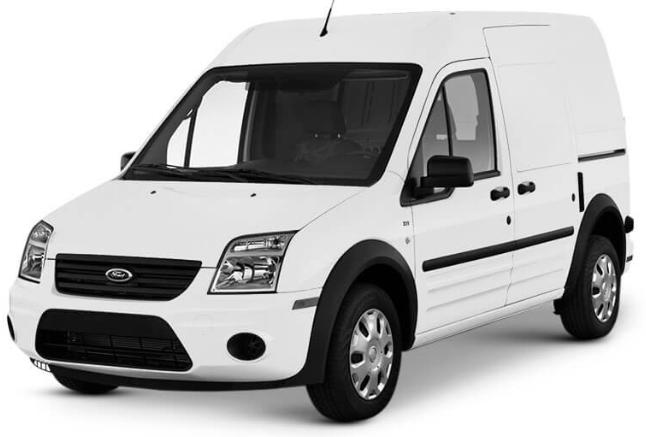 Ford Transit com fundo branco