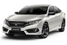 Honda Civic com fundo branco