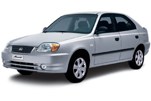 Hyundai Accent fundo branco