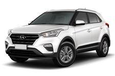 Hyundai Creta com fundo branco