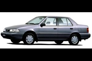 Hyundai Excel fundo branco