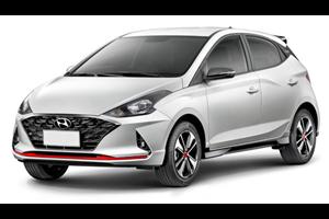 Hyundai HB20 com fundo branco