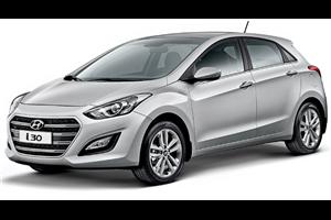 Hyundai i30 com fundo branco