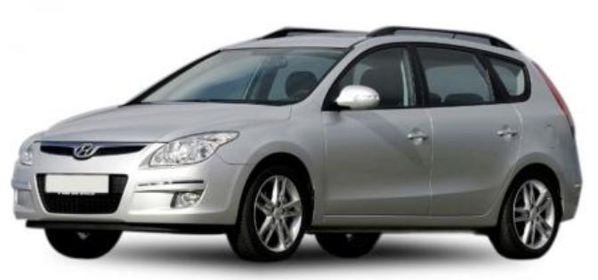 Hyundai i30 CW com fundo branco