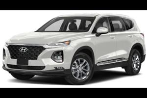 Hyundai Santa Fe com fundo branco