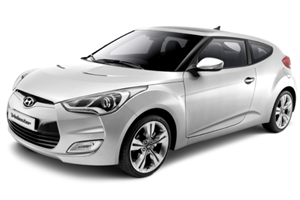 Hyundai Veloster fundo branco