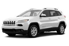 Jeep Cherokee com fundo branco