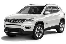 Jeep Compass com fundo branco