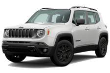 Jeep Renegade com fundo branco
