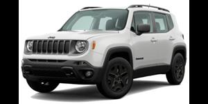 Jeep Renegade fundo branco