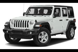 Jeep Wrangler com fundo branco