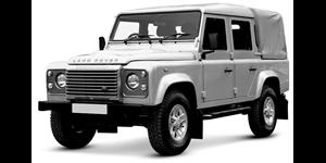 Land Rover Defender fundo branco