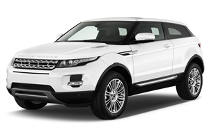 Land Rover Range Rover Evoque com fundo branco