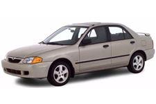 Mazda Protegé com fundo branco