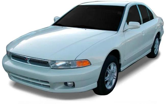 Mitsubishi Galant com fundo branco