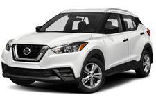 Nissan Kicks com fundo branco
