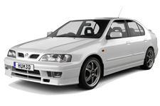 Nissan Primera com fundo branco