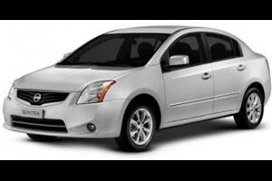 Nissan Sentra com fundo branco