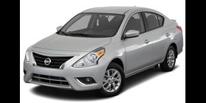 Nissan Versa fundo branco