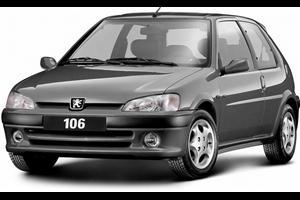 Peugeot 106 com fundo branco