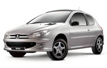 Peugeot 206 com fundo branco