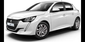Peugeot 208 fundo branco