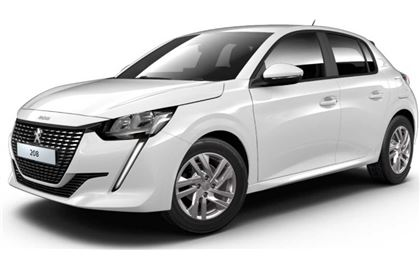 Peugeot 208 com fundo branco