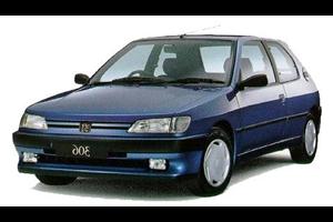Peugeot 306 com fundo branco