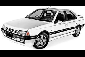 Peugeot 405 com fundo branco