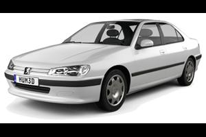 Peugeot 406 com fundo branco