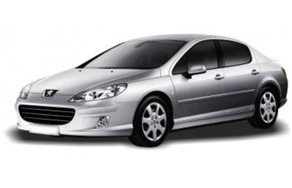 Peugeot 407 com fundo branco