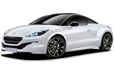 Peugeot RCZ com fundo branco