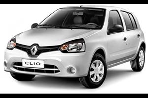 Renault Clio com fundo branco