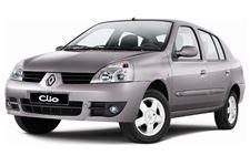 Renault Clio Sedan com fundo branco