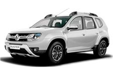 Renault Duster com fundo branco