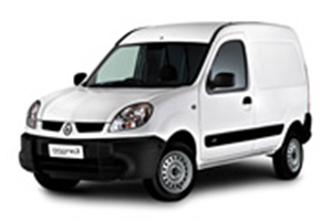 Renault Kangoo com fundo branco