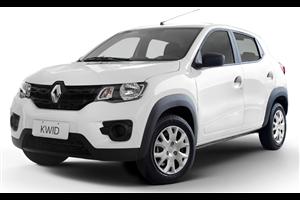 Renault Kwid com fundo branco