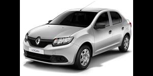Renault Logan fundo branco