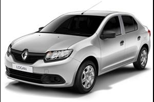 Renault Logan com fundo branco