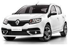 Renault Sandero com fundo branco