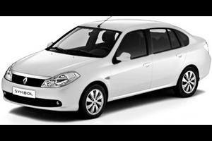 Renault Symbol com fundo branco
