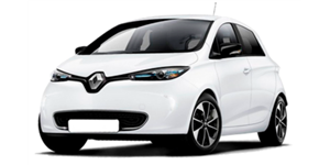 Renault Zoe fundo branco