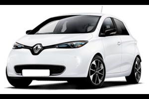 Renault Zoe com fundo branco