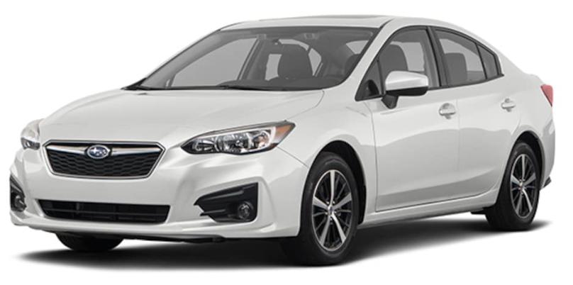 Subaru Impreza com fundo branco